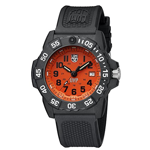 Luminox Scott Cassell UVP Special Edition Watch with Carbon Compound Case Orange|Black Dial and PU Black Strap XS.3509.SC.Set