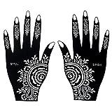 Mehndi Schablone 2er Set Henna Designs S112 für Linke und