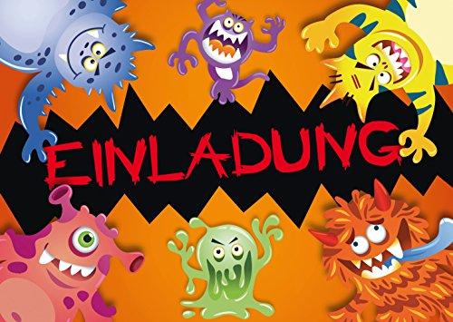 12 Halloween-Einladungskarten