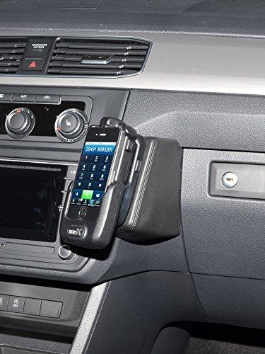 KUDA 1975 Halterung Kunstleder schwarz für VW Caddy (2K) ab 2015 (Facelift) Schwarzer Caddy