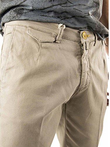 Pantalone-Uomo-Chino-Stretch-Cotone-Made in Italy MainApps Fango