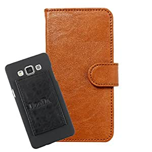DooDa PU Leather Wallet Flip Case Cover With Card & ID Slots For Micromax Bolt S301 - Back Cover Not Included Peel And Paste