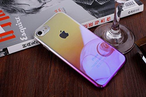 iPhone 7 Custodia, iPhone 7 Cover, iPhone 7 4.7 Custodia Cover, JAWSEU Moda Lusso Specchio Riflessione Scintilla Scintillio Diamante Bling Glitter Custodia Cover per iPhone 7 Ultra Sottile Anti-Graffi Gradiente Porpora