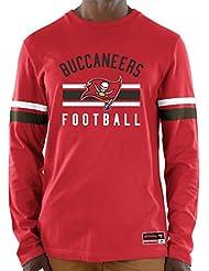 "Tampa Bay Buccaneers Majestic NFL ""Full Strike"" Men's Long Sleeve Crew shirt Chemise"