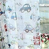 adaada Cartoon-Auto-Stil Kinder vorhänge mit Kräuselband, Zimmer Verdunkelungs vorhänge für Kinderzimmer,2er-Set, (Tüllvorhang, 175cmX140cm(HxB))