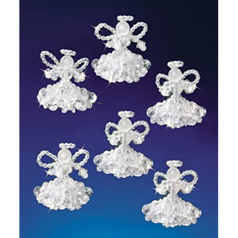 Beadery in vacanza con perline in cristallo, a forma di angeli, 2-Kit 6 Makes