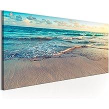 murando - Cuadro en Lienzo Playa Mar 135x45 cm 1 Parte impresión en Material Tejido no