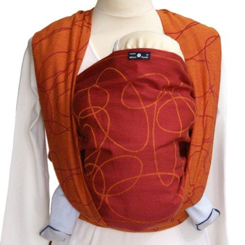 Didymos 461008 Babytragetuch, Modell Ellipsen rubin-mandarine, Größe 8