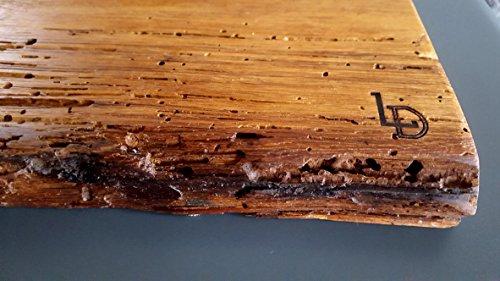 Plateau, Planche à Découper, Planche à Fromage, plateau, jause Planche à steak, planche en bois, Plateau saucisse, planche déco antique Chêne, bois massif, Taille : 40 x épaisseur env. 12 cm/2,7 cm