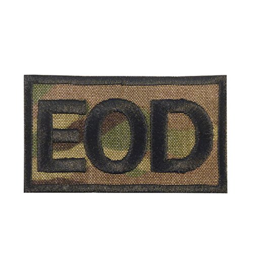 2AFTER1 EOD Multicam Explosive Ordnance Disposal Army Tactical Cordura Fastener Patch -