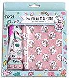 Toga unicornio y sirena Kit de papelería, papel, multicolor, cuaderno 13x 18cm