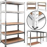 Étagère meuble rangement garage 5 tablettes 180 x 90 x 40 cm en acier et bois
