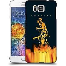Official AC/DC ACDC Bonfire Album Art Hard Back Case for Samsung Galaxy Alpha