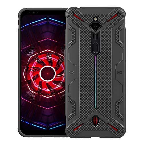 CRESEE Red Magic 3 Hülle Case, Schutzhülle Soft Silikon Cover Bumper Stoßfest Handyhülle Fall für ZTE Nubia Red Magic 3 (Grau)