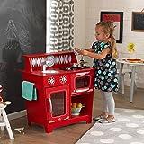 KidKraft 53362 Cuisine enfant en bois Red Classic, jeu d'imitation