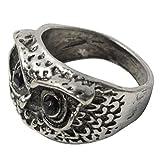 Demarkt Vintage Retrostil Reizvoll Süß Eule Augen Ring Modeschmuck (Silber)