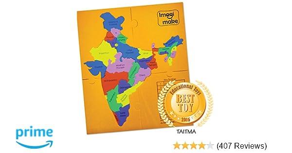 Buy Imagimake Mapology States of India Map Puzzle Educational Toy ...