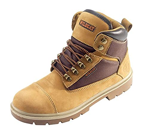 Wildcat JAGUAR Honey Safety Work Boots S1P Steel Toe Cap and Midsole Protection