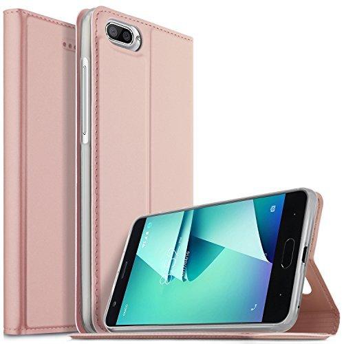 DOOGEE X20L Hülle, KuGi DOOGEE X20L Flip Bookstyle Kompletter Schutz Mit Magnetverschluss und Standfunktion Tasche Etui Cover Case Schutzhülle für DOOGEE X20L Smartphone (Rose Gold)
