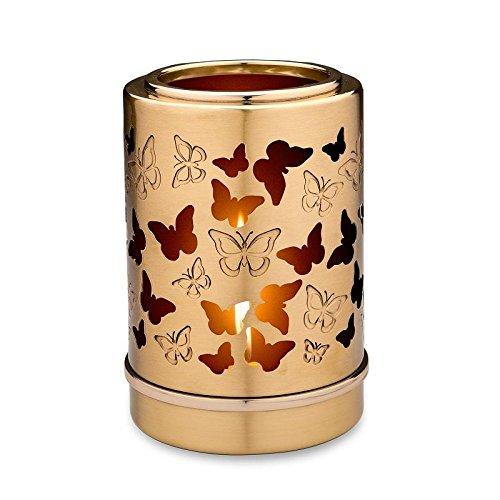 Verbrennung Asche Miniatur-Urne–Kerzenhalter Andenken (Schmetterlinge)