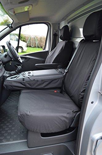 VAUXHALL VIVARO SPORTIVE Black Custom Van SEAT COVERS 100/% WATERPROOF