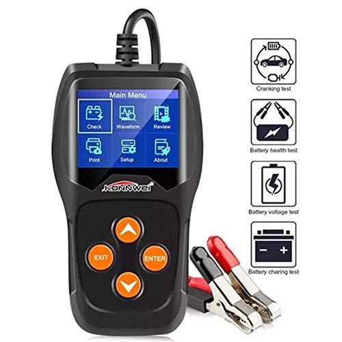 LXB Tester Batteria Professionale, Lettore di Codici a Barre 12vkw600, analisi del Valore CCA o ah, Carica, Tensione, Resistenza Interna, classificazione e Stato di Salute.