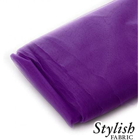 Plum Tulle Fabric - 40 Yards Per Bolt by Stylishfabric - Tessuto Di Tulle Bolt