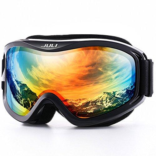 JULI Skibrille,Winter Schnee Sport Snowboard Schutzbrille mit Anti-Nebel UV-Schutz Doppel Linse für Männer Damen&Jugend (Ski-optic Snowboard-schutzbrillen)