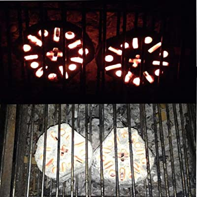 "'4Stück-Block Grill/Kamin ""Miracle Blaze-Zündung Snapshot-Brenndauer Bio-1Block = 2Stunden Wärme. eigenen"