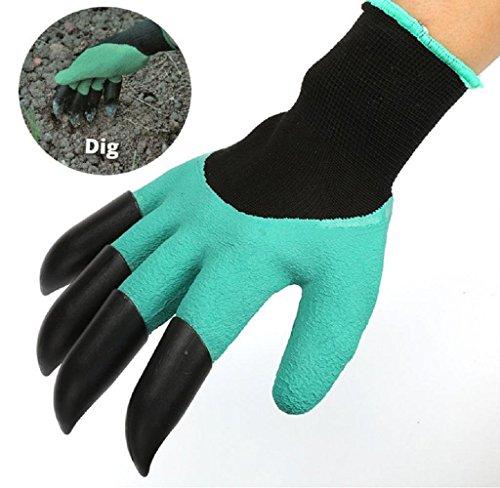 SAN7C 1 Paar ABS Plastik Claws Garten Pflanzung Handschuhe für Graben & Pflanzen Baumschulen Pflanzen leicht zu graben und Pflanze Safe für Rose (Handschuhe Claw)