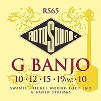 Rotosound RS65 - Juego de cuerdas para banjo de níquel en Sol (extremo de lazo)