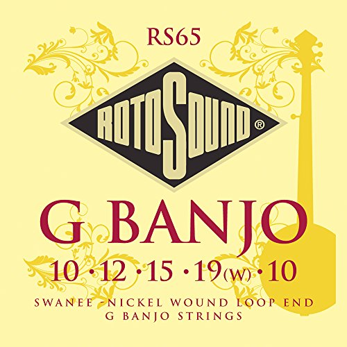 Rotosound Saitensatz, Nickel Wound, Loop End, für 5-Saiten-G-Banjo Loop End-e-saite