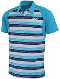 Puma Golf Mens GT Glitch Stripe Golf Polo Shirt CoolCell
