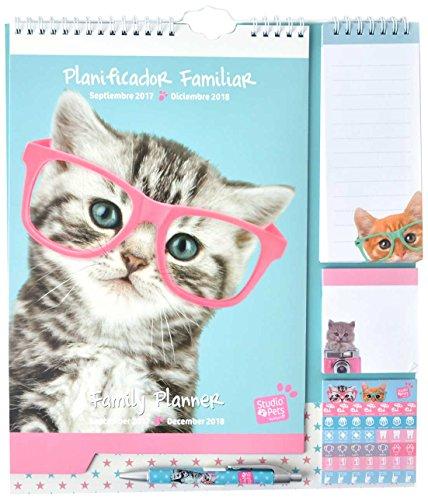 Grupo Erik Editores Planificador Familiar 2017/2018 Studio Pets Cat Camera