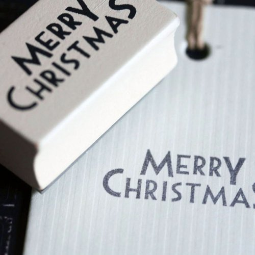 East of India Merry Christmas Crafting Stamp