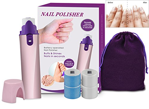 NEW Portable Polisseuse à ongles électrique Shiner tampon et lisse, les fait briller les ongles, ongles instantanément brillant, bonne mine ongles