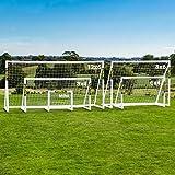 FORZA Fußballtore mit einem Sperrsystem - Sie können das Tor das ganze Jahr über bei jedem Wetter draußen Lassen Stehen