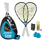 Speedminton 400082 Set de speedminton S200 avec sac à dos et 8 cônes