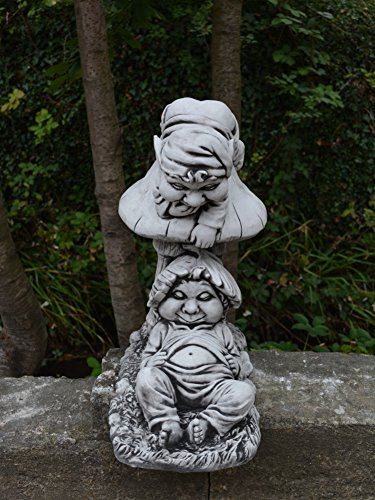 Lustiger Gnome Faulpelze aus Steinguss, frostfest