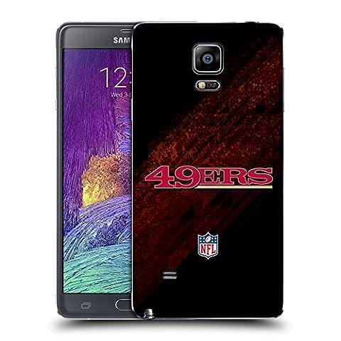 Officiel NFL Tache San Francisco 49Ers Logo Couvercle Batterie de remplacement pour Samsung Galaxy Note 4