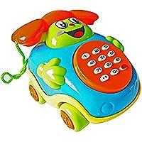 Qsoleil Accesorios de Juguete para niños Juguetes educativos para niños Sonrisa Música Teléfono de Juguete Bebé Teléfono Juguete (Color Aleatorio) Juguete de Aprendizaje Infantil