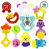 #3: Smiles Creation Cute and Bright Colours Rattle Set Toy for Kids - Set of 9