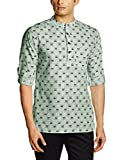 Svanik Men's Mid Thigh Cotton Kurta (SVC...