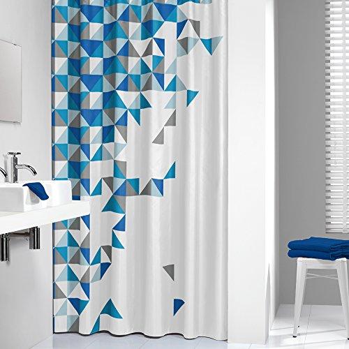 Sealskin Textil Duschvorhang Tangram, Farbe: Blau, B x H: 180 x 200 cm (Duschvorhang Farbe)