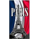 STRANDTUCH, MOTIV: PaRIS EIFFELTURM, FROTTEE, VELOURS, BEDRUCKT, 75 X 150 CMStrandtuch, Velours, bedruckt, Eiffelturm-Motiv, Frottee, 75 x 150 cm