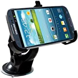 Car Windshield Mount Holder Cradle for Samsung i9300 Galaxy S3 III with MicroUSB In Car Charger