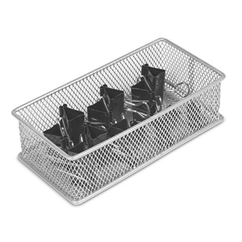 YBM Home silber Mesh Schublade Schrank und oder im Regal Organizer Bin, Schule Supply Halter Office Desktop Organizer Korb 1594(3x 6)