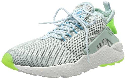 Nike Air Huarache Run Ultra, Chaussures de Running Entrainement Femme Gris(Fiberglass/Elctrc Green/Gmm Bl)