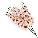 OULII Orchidee künstlichen Schmetterling Orchidee Blume Pflanze Orchidee Pflanze Dekoration künstliche Seide Blumen Home Dekoration