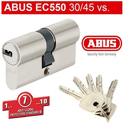 ABUS mit 5 Schlüsseln NP 30/45 Türzylinder EURO Art. 8403